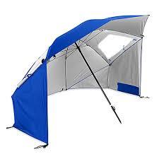 sport brella super brella beach umbrella in blue bed bath beyond