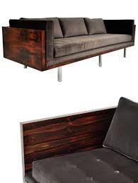 Vintage Rosewood Milo Baughman Sofa