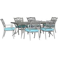 Hanover Traditions 7-Piece Dining Set In Blue With 6 Stationary Chairs And  A 38 Ding Table 6 Chairs New 5 Piece Table Set 4 Chairs Glass Metal Kitchen Room Fniture Kitchen Simple Ding And Chair Set Black Incredible Size Medida Para Mesa Em Http And Ikea Clearance White Gloss Lenoir Brasilia Style Senarai Harga Homez Solid Wood C 38 Ww T Small Extending Tables Unique Elegant Square New Transitional 7pc Deep Finish Uph Seat Grand Mahogany Hard 68 Seater Kincaid Mill House With Monaco Rectangular Outdoor Patio Office Computer Chair Cover Task Slipcover
