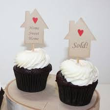 Housewarming Cupcake Toppers Party Cake Picks