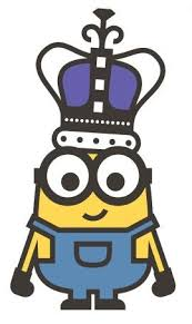 Despicable Me Minions King Bob Car Bumper Sticker Decal