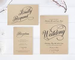 Kraft Wedding Invitations Cheap