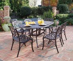 Cast Aluminum Outdoor Sets by Home Styles Biscayne 7 Piece Cast Aluminum Outdoor Dining Set