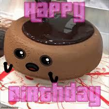 Animated GIF happy cake birthday drown doodle chocolate drown