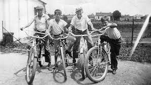 Great Uncles And Friends Riding Bikes Columbus Ohio 1938