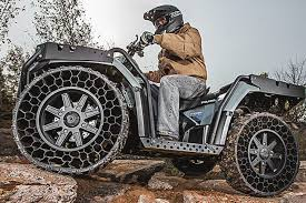 Polaris' Latest ATV Has Airless Tires That Can Withstand .50-caliber ... Airless Tires For Cars And Trucks Atv Best Michelin Tweel Technologies Expands Its Line Of Radial Japanese Brand The Of 2018 This Awardwning Technology The Michelin X Tweel Turf Airless Way Future Sale Reifen Export Import 11r225 Hot In Suppliers And Manufacturers At Pirelli Unveils New R01 Truck Tyres For Europe Tyre Asia Skid Steer Tire Retreaded News From You Can Now Buy Magical Drive Polaris Ranger W 4 Damaged Still Cruising Youtube
