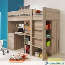 lit en hauteur 3 en 1 lit bureau armoire a vendre 2ememain be