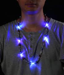 Flashing Christmas Tree Lights Necklace by Led Light Up Stars Necklace Coolglow Com