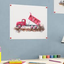 Zoomie Kids Susan Construction Vehicles Dump Truck Paper Print | Wayfair