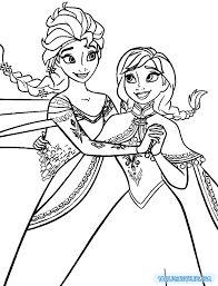 Colouring Pages Of Elsa Disney Frozen Printable Coloring