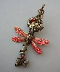 Steampunk Dragonfly Pendant What Do Old Keys Open And Secrets They Hold