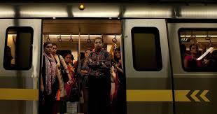 Watch video Delhi Metro train runs with one of its doors open