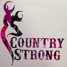 Pink Camo Country Strong Girl Truck Vinyl Decal 5