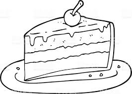 black and white cartoon slice of cake royalty free black and white cartoon slice of