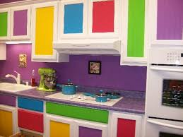 Really Colorful Kitchen At Awesome Design Ideas