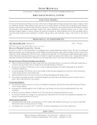 Sample Resume Finance Manager Summary Examples Packed With Financial Analyst Director Of
