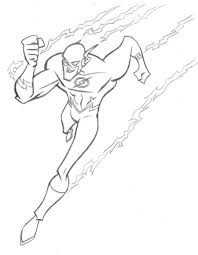 Coloring Pages Kids Flash Free Superhero At The