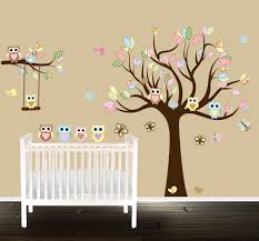 Owl Bedroom Wall Stickers by Owl Nursery Tree Wall Decal Gender Neutral Wall Decals Wall