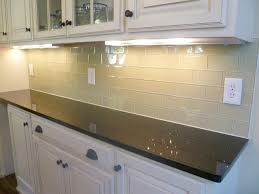 glass subway tile lowes simple kitchen with light brown glass