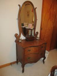 Tiger Oak Dresser Beveled Mirror by Johnny Swalls Auction A Full Time Certified Real Estate Auction