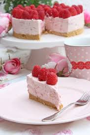 himbeer cheesecake mit keksboden no bake cake