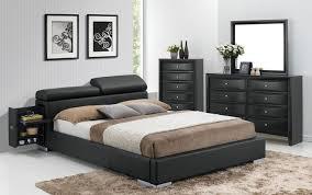 Manjot Black Queen Size Bed Q EK Acme Corporation Modern