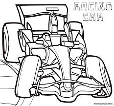 Formula 1 Racing Car Colouring Page