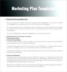 Marketing Campaign Proposal Template Plan Templates