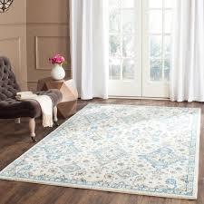 safavieh evoke ivory light blue 8 ft x 10 ft area rug evk224c 8