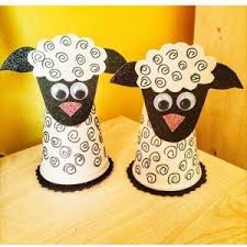 Lamb Craft From Waste Paper Cup Recycle Cups Art And Crafts For Kids