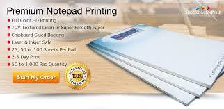 Custom Notepad Printing Service