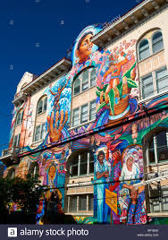 Balmy Alley Murals Mission District by Wall Murals In The Mission District Of San Francisco Stock Photo