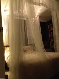 Blackout Canopy Bed Curtains by Fascinating Canopy Bed With White Curtains And Purple Queen Frame