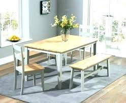 White Table With Bench Full Size Of Dining Room Seat Seats Covers