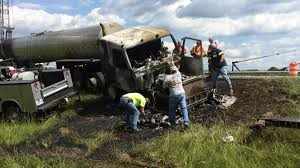 Milk Tanker Truck Crashes, Burns On I-81; No Injuries | News ... Investigators Identify Driver Cause Of Deadly Crash Volving Semi Seven Children Injured In School Bus And Tanker Halton Overturned Big Rig Leaks Fuel Creates 580 To 101 Gridlock For Propane Truck Closes Both Directions I5 Seattle At Least 1 Dead Wreck On Hwy 5 West Blocton Wbma Killed After Crashes I40 Kforcom Pakistan Oil Accident World Tribune Window The Real Lapd Driver Dies After Running Red Light Slamming Into Tanker Cbsdfw Twitter Update Seven Truck Blocks I64 East Williamsburg Yorktown Daily Dallas Accident Lawyer Rasansky Law Firm