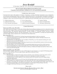 Project Management Resume Example Bank Operations Manager Free Sample Examples Samples Junior