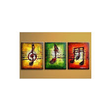 Wall Decor Art Modern Abstract Canvas Oil Painting Music No Frame