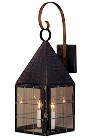 colonial new wall light with bracket copper lantern