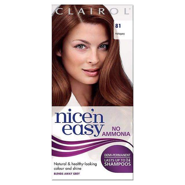 Clairol Nice n' Easy No-Ammonia Hair Colour - 81 Mahogany