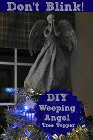 Diy Nightmare Before Christmas Tree Topper by Diy Weeping Angel Christmas Tree Topper Melissadavison Christmas