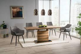 details zu esstisch holztisch designertisch luxus tisch esszimmer woody braun grau weiss