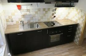 ikea küche küchenzeile einbauküche tingsryd schwarz