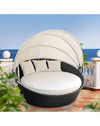 DEAL ALERT Holden Canopy Outdoor Patio Daybed with Cushion Fabric