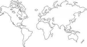 Printable World Map Coloring Sheet Of The Page In