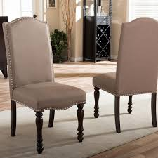 baxton studio zachary beige fabric upholstered dining chairs set
