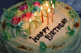 birthday cake candles sweet flowers fire
