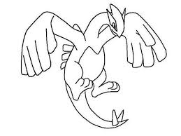 Legendary Pokemon Coloring Pages Lugia Gallery