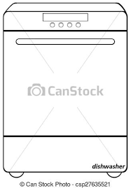 Dishwasher Closeup Simple Design Of