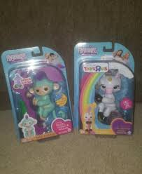 Authentic Fingerlings Gigi Unicorn And Zoe Monkey Fingerling Wowwee Lot Of 2