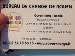 bureau de change fr change de rouen financial services 36 rue du bac rouen seine